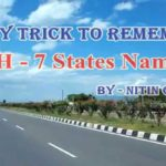 National Highway 7 Route Remember to State Name Tricks
