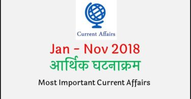 Economics Current Affairs in Hindi 2018